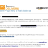 Amazon Email Verification Phishing Scam