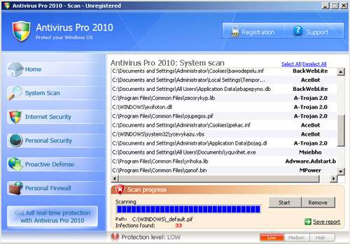 Fraud Alert – Antivirus2010