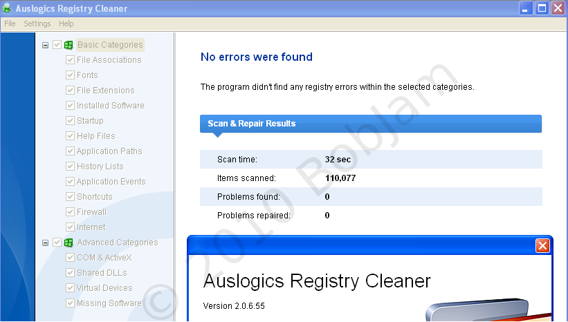 Auslogics Test Results