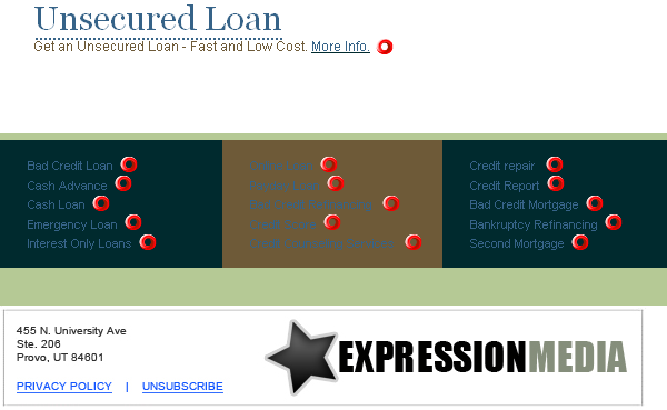 Unethical Online Loan Email Spam