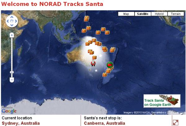 Where is Santa Now?