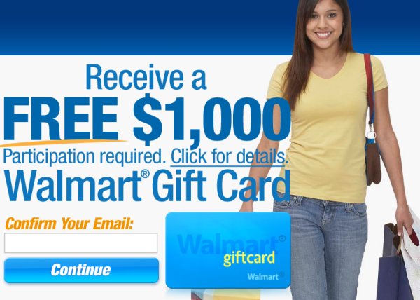 Walmart Gift Card Phishing Scam