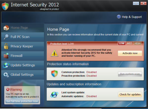 How to Remove Internet Security 2012