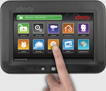 Comcast 39 s new fully integrated home monitoring system for Interior home monitoring system