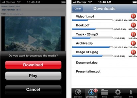 iDownloader Pro – a universal download manager for your iPhone!