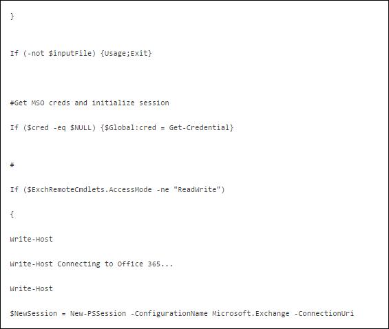 O365 to O365 migration commands