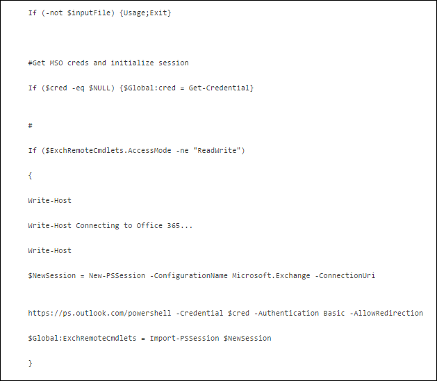 power shell command continuation
